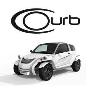 courb logo voiture electrique